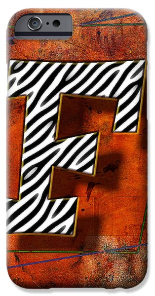 Leaning Pyrography iPhone Cases - F iPhone Case by Mauro Celotti