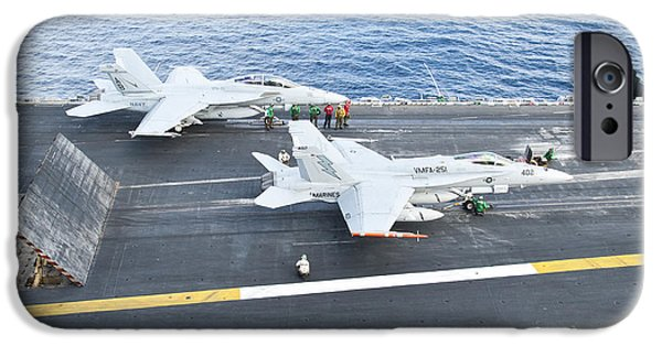 F-18 iPhone Cases - Fa-18 Aircraft Prepare To Take iPhone Case by Stocktrek Images