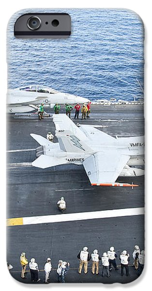 Fa-18 Aircraft Prepare To Take iPhone Case by Stocktrek Images