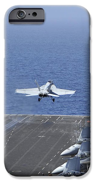Fa-18f Super Hornets Launch iPhone Case by Stocktrek Images