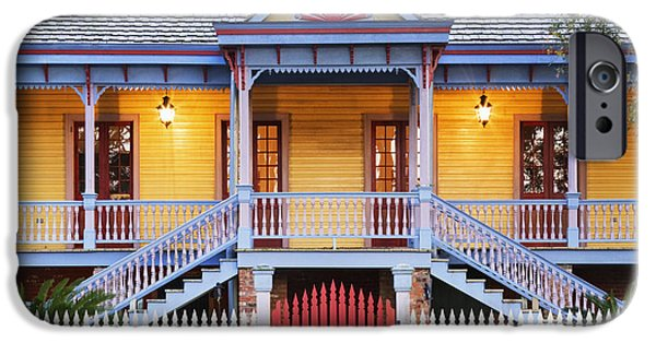 Restored Plantation iPhone Cases - Facade of Plantation Slave Quarters iPhone Case by Jeremy Woodhouse
