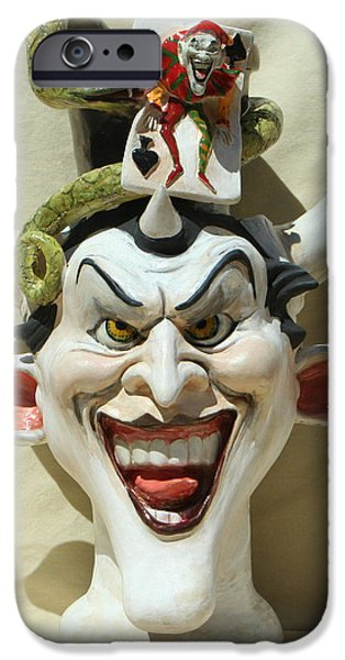 Strange Sculptures iPhone Cases - Face Jug Jokula iPhone Case by Lauren  Marems