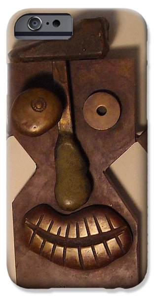 Fun Sculptures iPhone Cases - Face iPhone Case by Ralf Schulze
