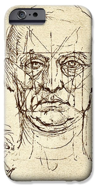 Proportions iPhone Cases - Facial Anatomy iPhone Case by Sheila Terry