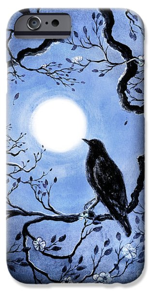 Crows iPhone Cases - Faded Memories of Spring iPhone Case by Laura Iverson