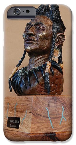 Native Sculptures iPhone Cases - Fading Spirit iPhone Case by J P Childress