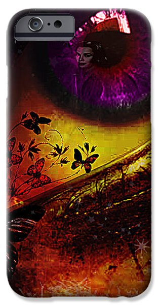Fairy Eye iPhone Case by Yvon van der Wijk