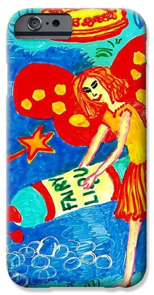 Magic Ceramics iPhone Cases - Fairy liquid iPhone Case by Sushila Burgess