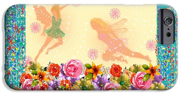 Faries iPhone Cases - Fairy Play iPhone Case by Rosalie Scanlon