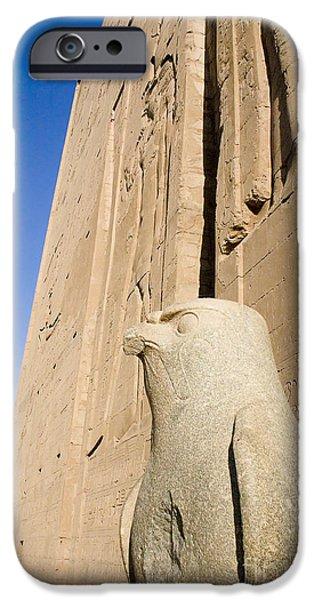 Falcon Statue at Edfu iPhone Case by Darcy Michaelchuk