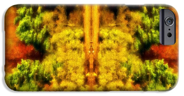 Rotate iPhone Cases - Fall Abstract iPhone Case by Meirion Matthias