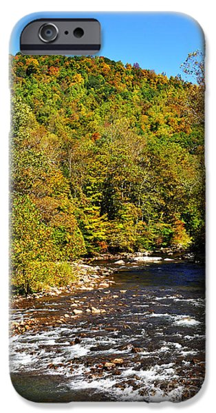 Fall along Elk River iPhone Case by Thomas R Fletcher