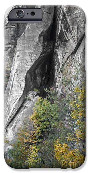 Fall iPhone Cases - Fall Colors Chimney Rock State Park iPhone Case by Dustin K Ryan