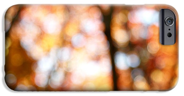 Abstract iPhone Cases - Fall colors iPhone Case by Les Cunliffe
