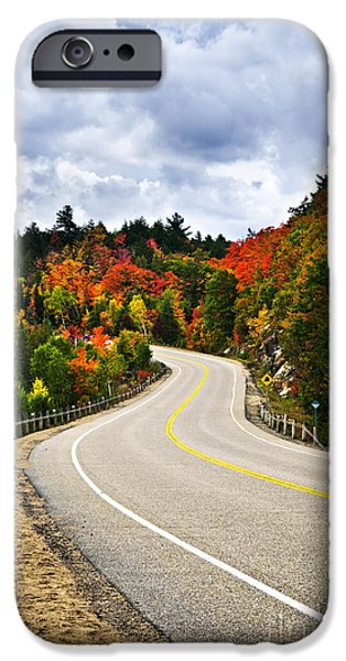 Fall highway iPhone Case by Elena Elisseeva