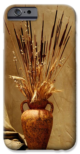Interior Still Life iPhone Cases - Fall in a Vase Still-Life iPhone Case by Christine Till