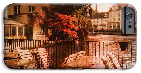 Architectur iPhone Cases - Fall in Lucerne Switzerland iPhone Case by Susanne Van Hulst