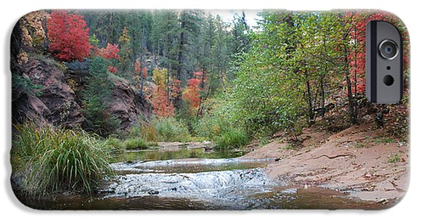 West Fork iPhone Cases - Fall Licks Both Sides of the River iPhone Case by Heather Kirk