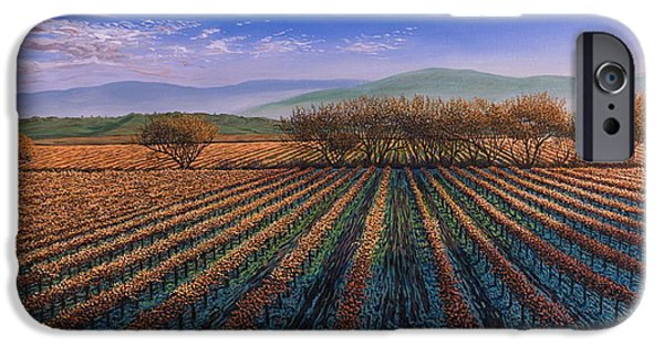 Sonoma iPhone Cases - Fall Morning Light iPhone Case by James English Babcock