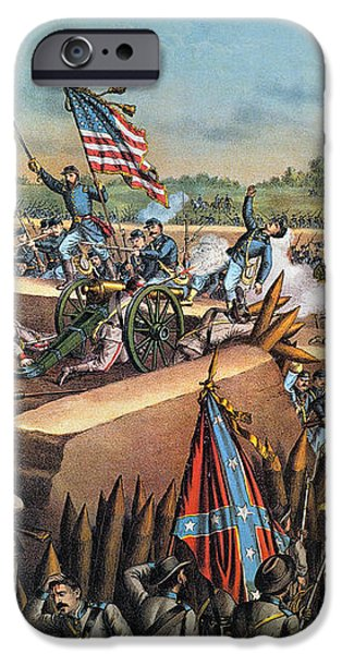 FALL OF PETERSBURG, 1865 iPhone Case by Granger