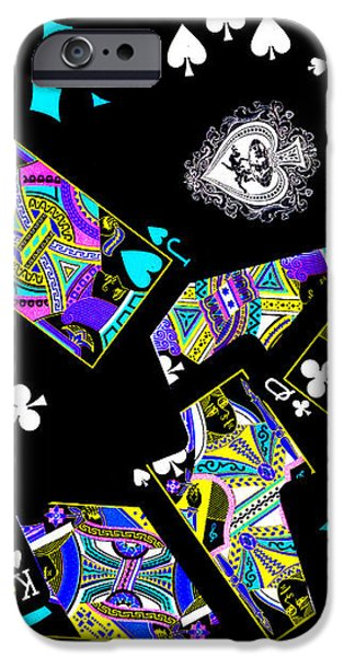 Fall of The House of Cards iPhone Case by Wingsdomain Art and Photography