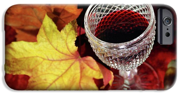 Dirty iPhone Cases - Fall Red Wine iPhone Case by Carlos Caetano