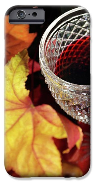 Fall Red Wine iPhone Case by Carlos Caetano