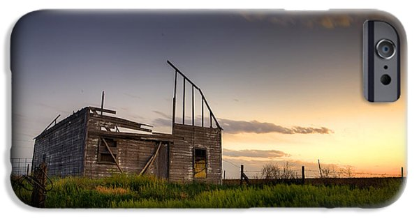 Old Barns iPhone Cases - Fallen Barn iPhone Case by Thomas Zimmerman