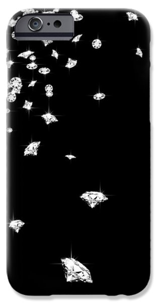 falling diamonds iPhone Case by Setsiri Silapasuwanchai