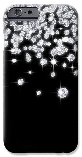 falling diamonds iPhone Case by Setsiri Silapasuwanchai