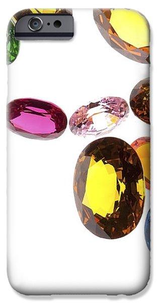 falling gems iPhone Case by Setsiri Silapasuwanchai