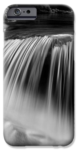 Falling Water Black and White iPhone Case by Rich Franco