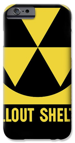 Public iPhone Cases - Fallout Shelter Sign iPhone Case by War Is Hell Store