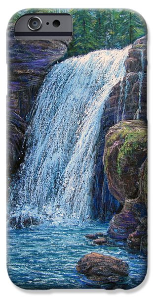 Outdoors Pastels iPhone Cases - Falls at Twilight  iPhone Case by Tanja Ware