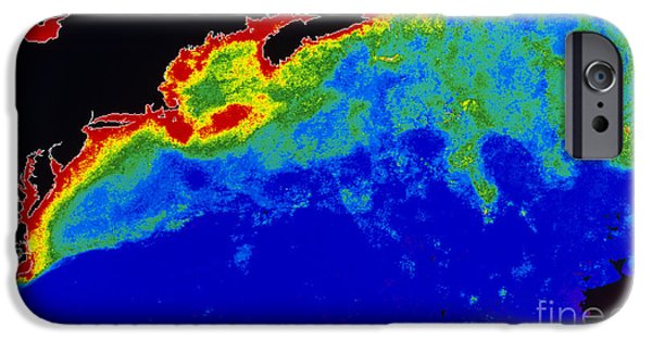 Algal Photographs iPhone Cases - False Col Satellite Image iPhone Case by Dr. Gene Feldman, NASA Goddard Space Flight Center