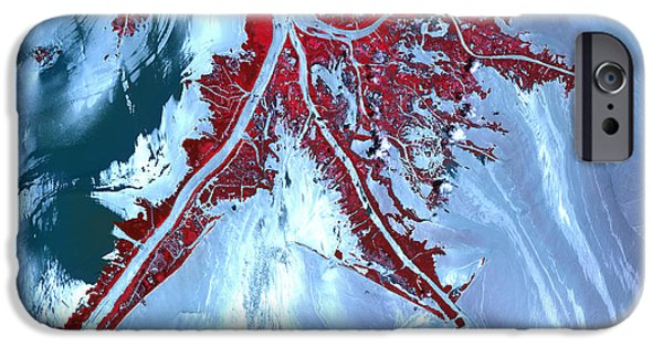 Recently Sold -  - Oil Slick iPhone Cases - False Color Satellite View iPhone Case by Stocktrek Images