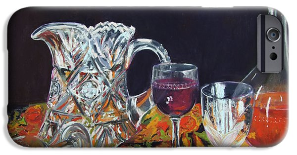 Still Life Pastels iPhone Cases - Family Ties iPhone Case by Marie-Claire Dole