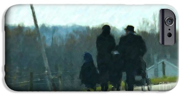 Amish Family iPhone Cases - Family Time iPhone Case by Debbi Granruth