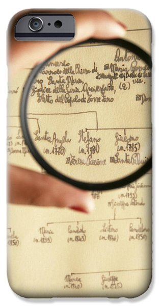 Genealogy iPhone Cases - Family Tree iPhone Case by Mauro Fermariello
