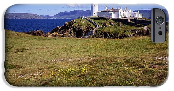 Head Harbour Lighthouse iPhone Cases - Fanad Lighthouse, Fanad Head, Co iPhone Case by The Irish Image Collection