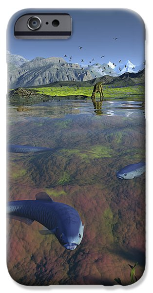 Fanged Enchodus Predatory Fish iPhone Case by Walter Myers