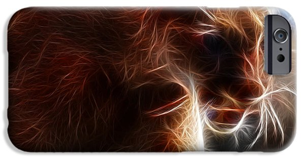 Large Cats iPhone Cases - Fantasy Cougar iPhone Case by Paul Ward
