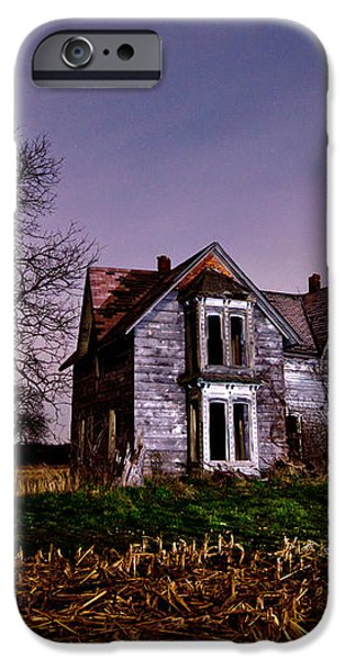 Farm House at night iPhone Case by Cale Best