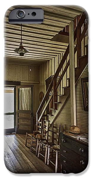 Farmhouse Entry Hall and Stairs iPhone Case by Lynn Palmer