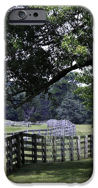 Farmland Shade Appomattox Virginia iPhone Case by Teresa Mucha