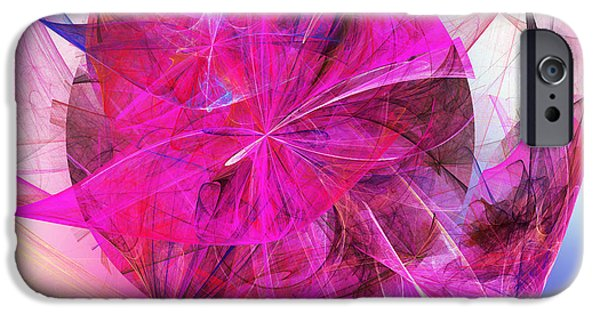 Fine Art Fractal iPhone Cases - Fascination iPhone Case by Andee Design
