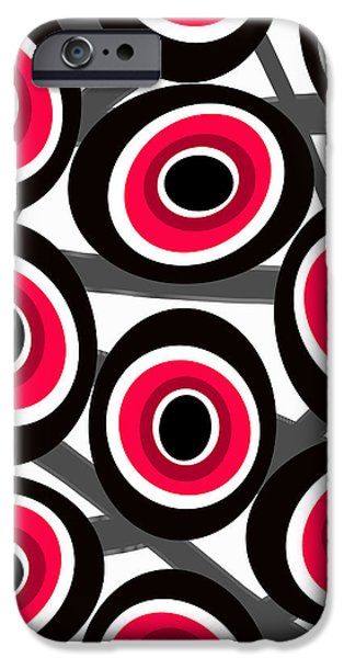 Abstract Fashion Designer Art iPhone Cases - Fashion Spots  iPhone Case by Louisa Knight