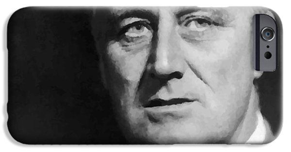 White House Digital Art iPhone Cases - Fdr iPhone Case by War Is Hell Store