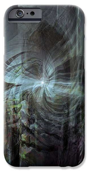 Abstract Digital iPhone Cases - Fear of the unknown iPhone Case by Linda Sannuti