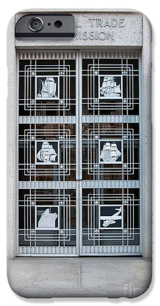 Federal Trade Commission Art Deco Door iPhone Case by Clarence Holmes